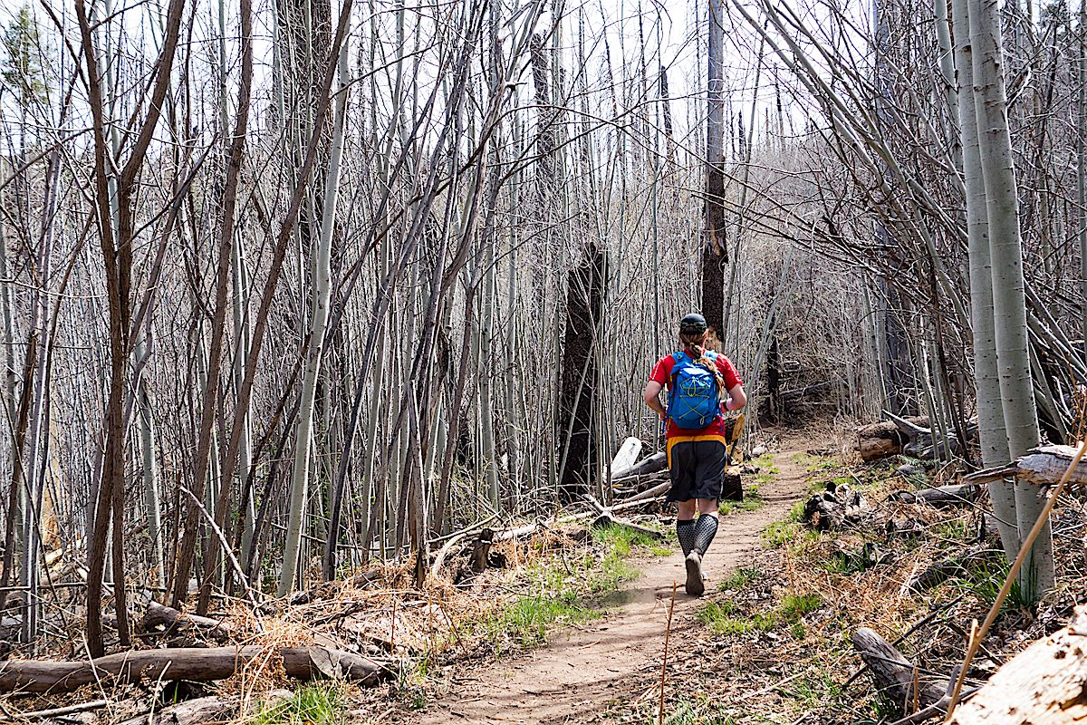 Going for a run on the Aspen Trail. April 2014