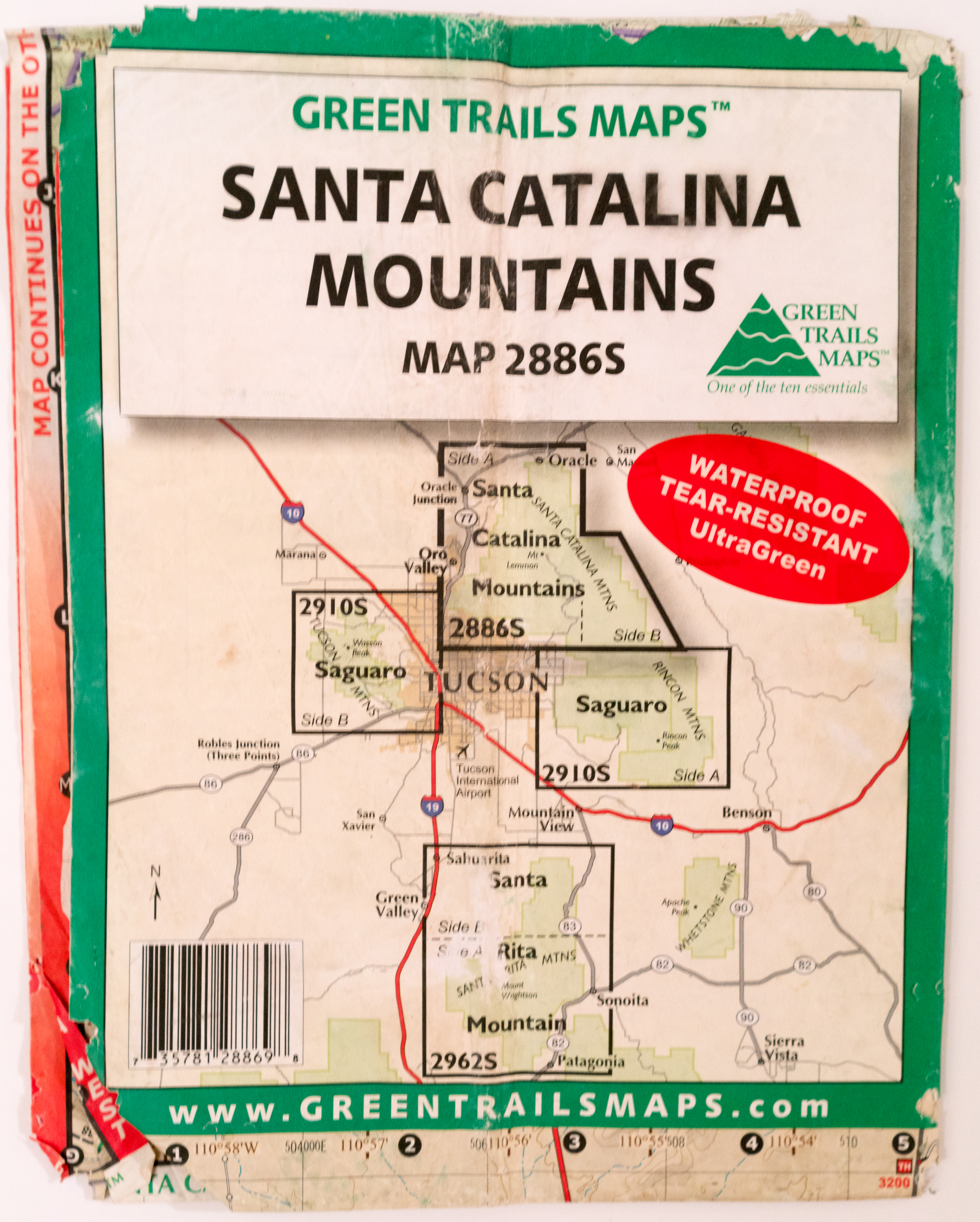 Green Trails Santa Catalina Mountains Map | Hike Lemmon!