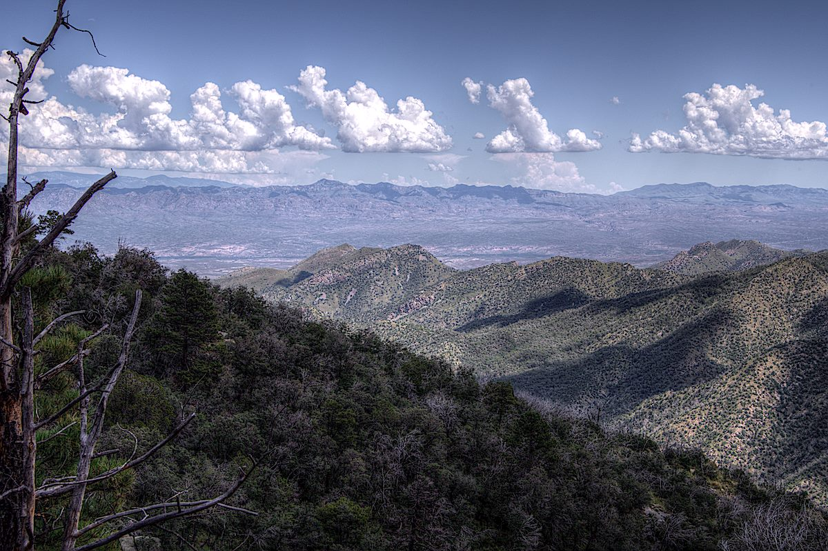 Clouds over the Galiuro Mountains from the Crystal Spring Trail. September 2013.