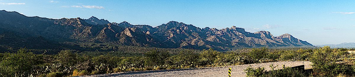 Pusch Ridge - taken from E Equestrian Trail road north of the Golder Ranch Parking Area. July 2016.