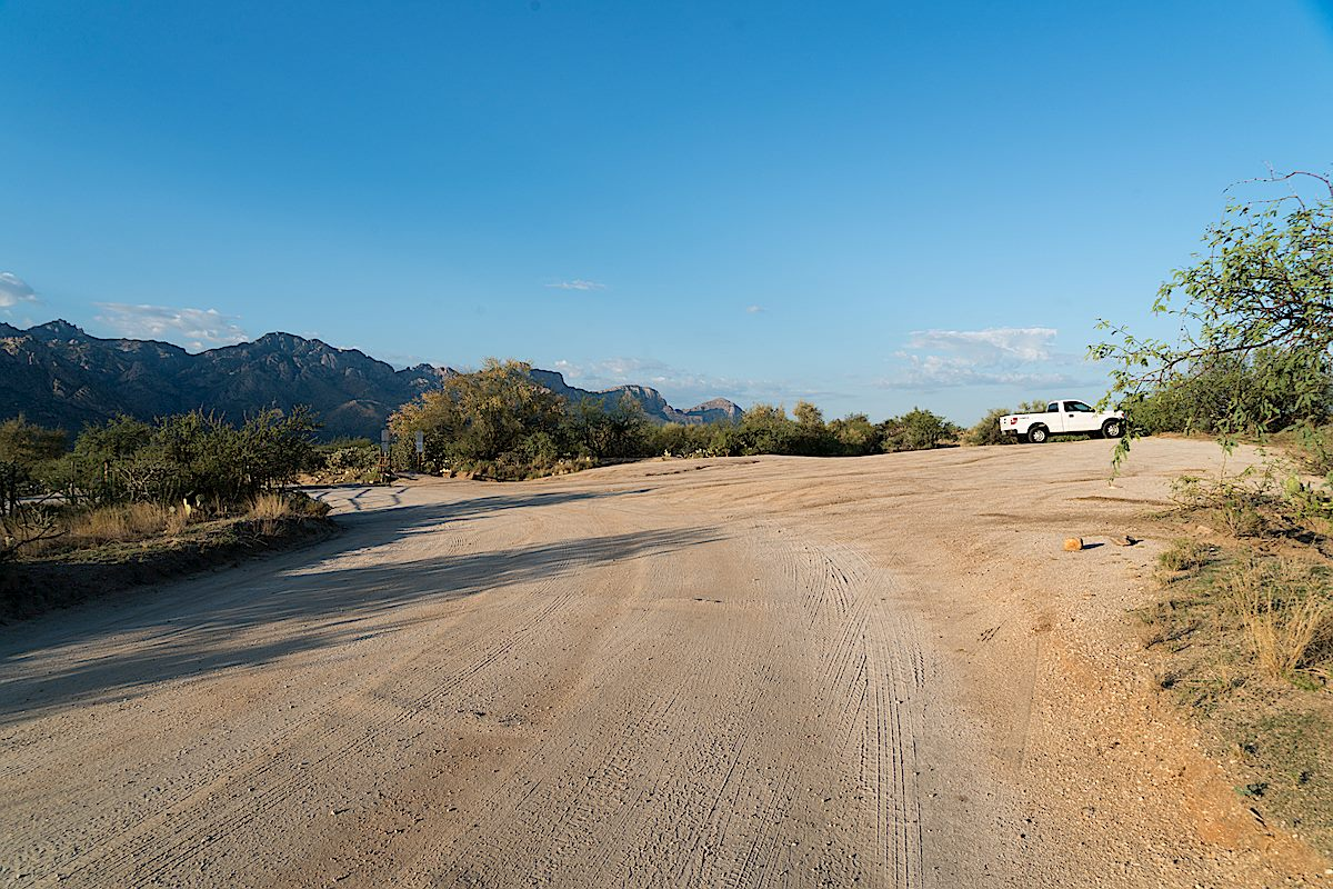 Main Golder Ranch Parking Area. July 2016.