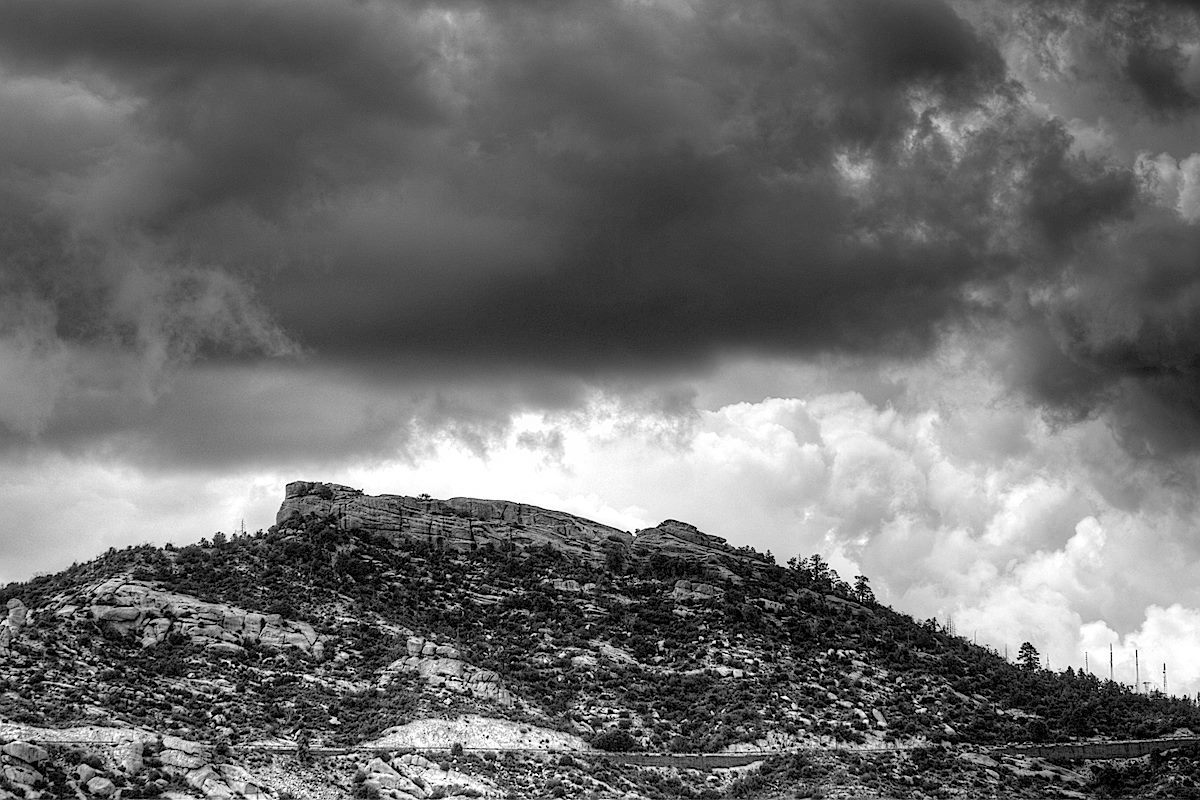 Storm over Lizard Rock - from the east ridge of Bear Canyon. July 2013.