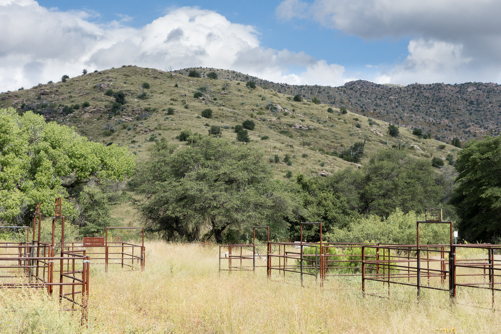 Corrals in the Gordon Hirabayashi Recreation Area, Santa Catalina Mountains. October 2015.