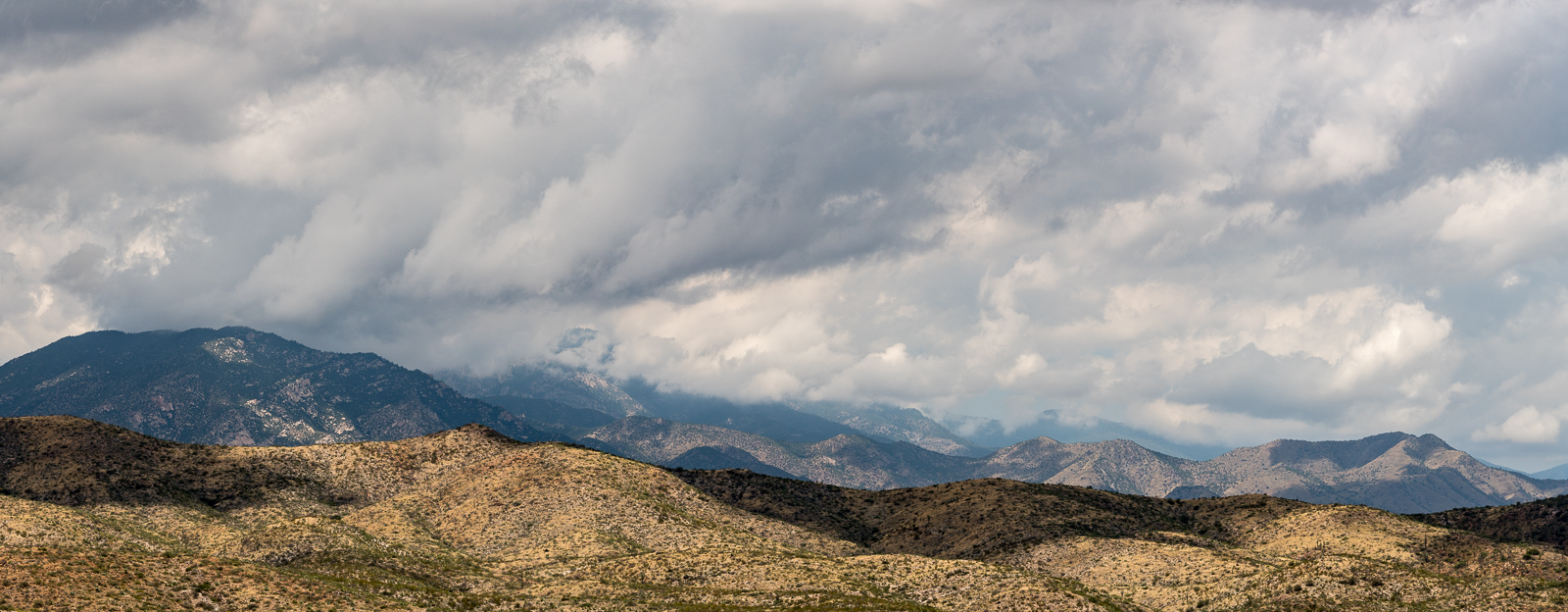 A storm over the Santa Catalina Mountains - A-7 Ranch between Redington Road and the San Pedro River.