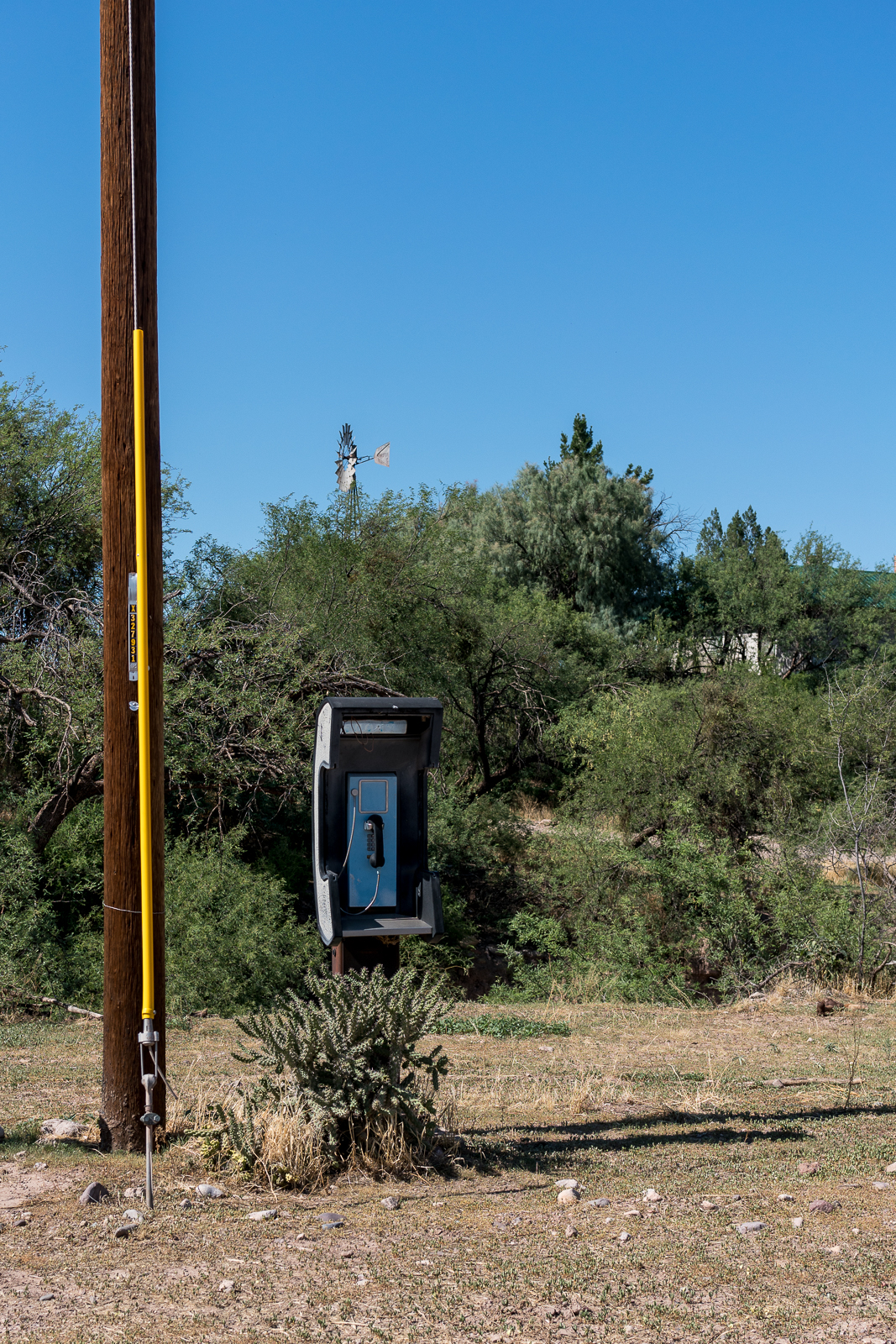 The payphone in Redington. July 2016.