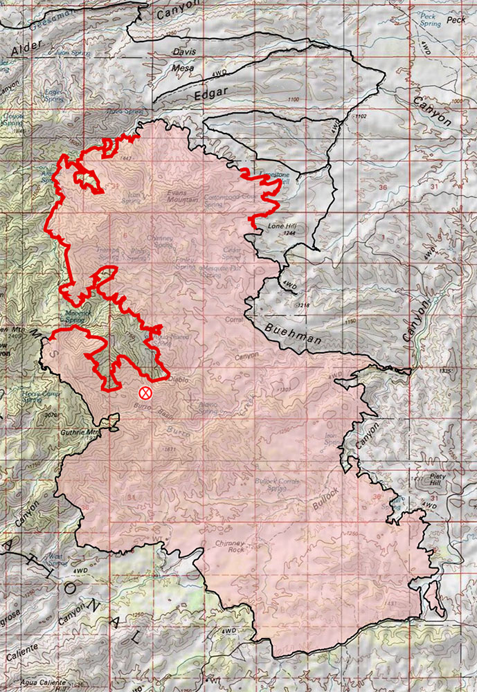 Burro Fire -7/11/2017 6:39AM - the map reflects the 65% containment announced yesterday!. July 2017.