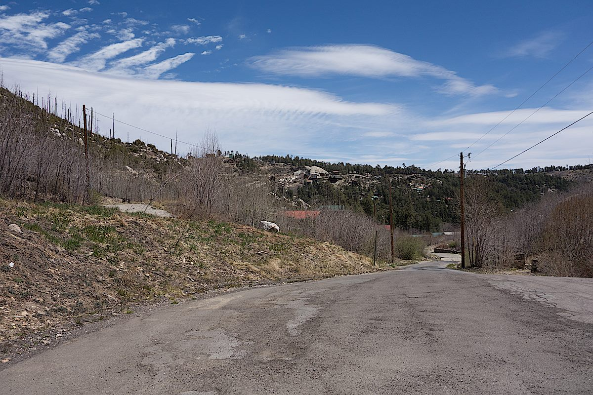 Mint Spring Trailhead in winter - looking towards Summerhaven. April 2014.