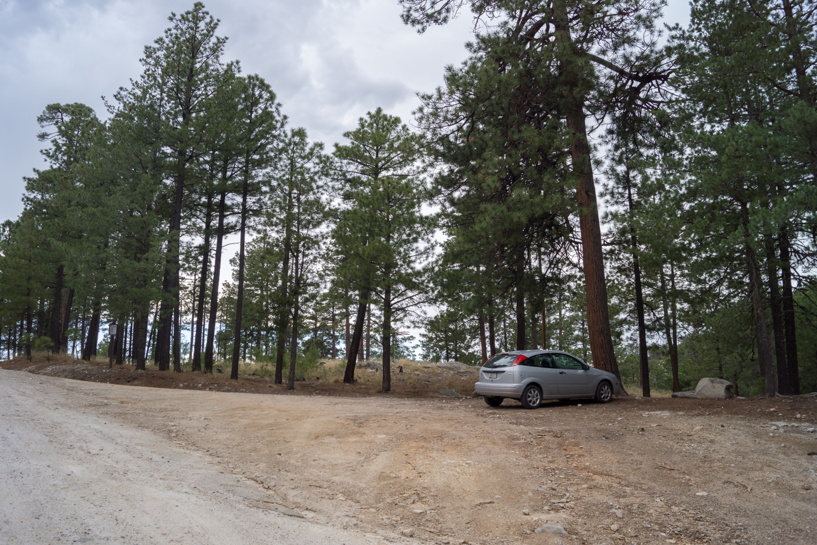 A cloudy day at the Palisade Trailhead. July 2014.