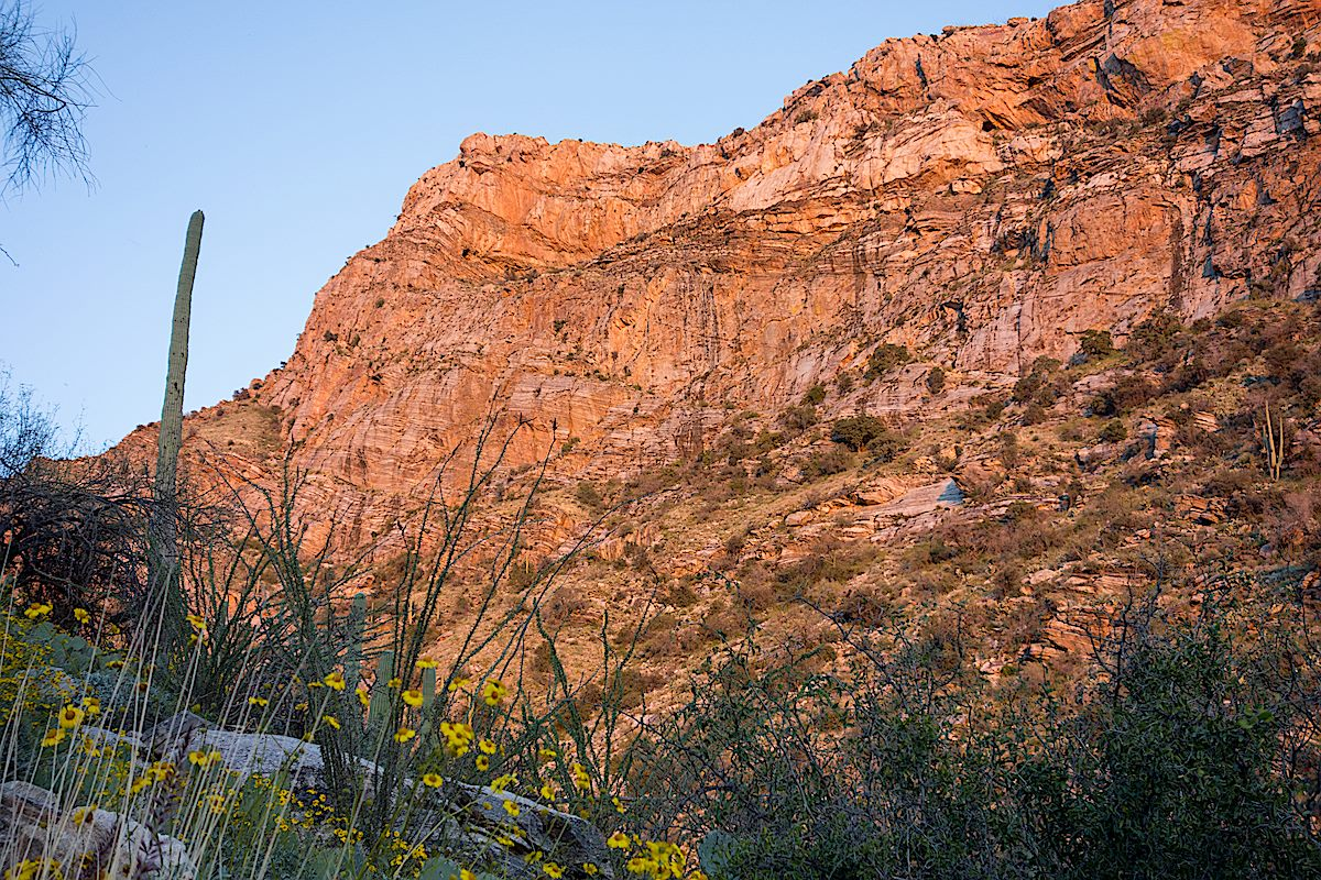 Pontatoc Ridge in the Sunset from the Pontatoc Canyon Trail. March 2015.