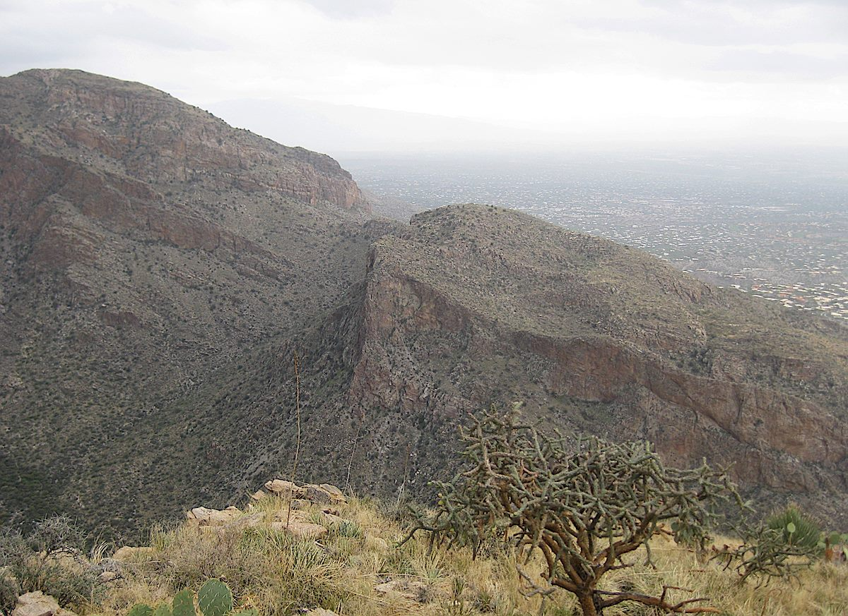 Rosewood Point from the West Side of Pima Canyon. December 2011.