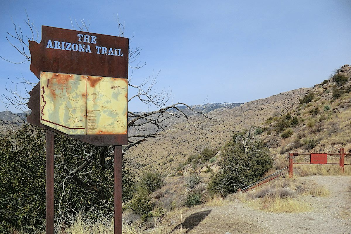 Shreve Saddle in 2015 - after the Arizona Trail sign was removed. May 2015.